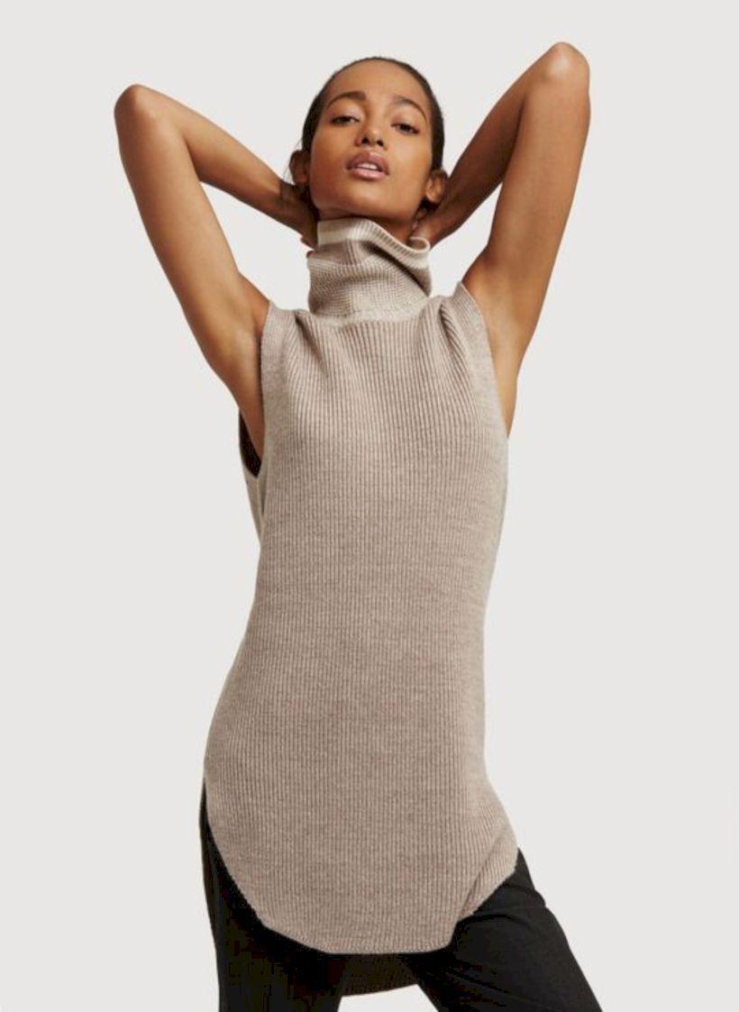 amazing sleeveless turtleneck dress for women dress pinterest