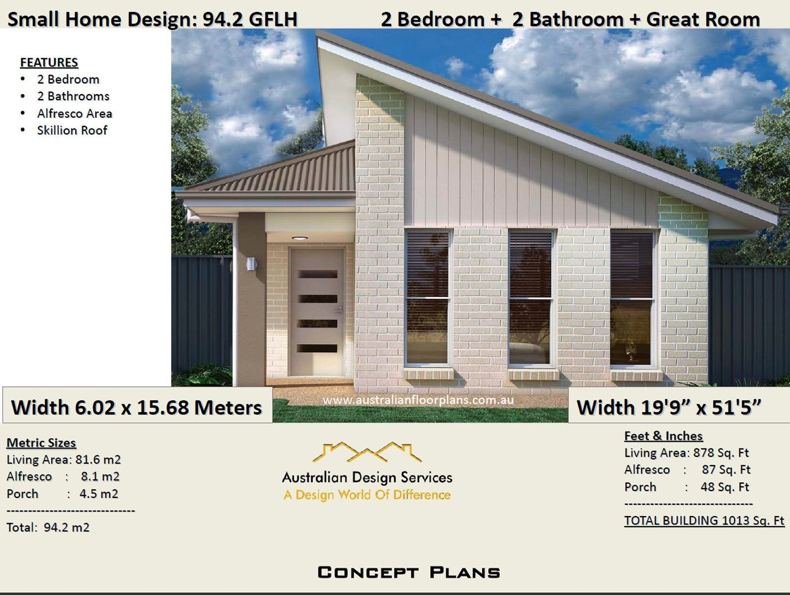 Small House Plan 1000 Sq Foot 94 2 Sq Meters 2 Bedroom Etsy House Plans For Sale House Plans Australia Small House