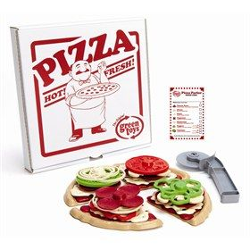 Pizza speelset van gerecycled materiaal