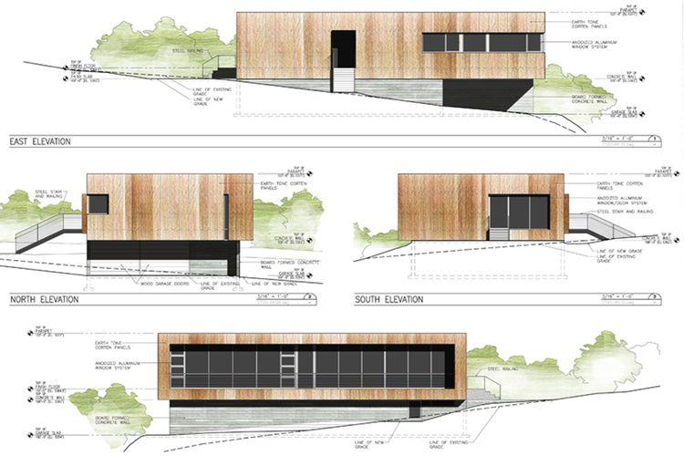 Sparanomooneyarchitecture Emigrationcanyonresidence Elevations R Jpg 750 500 Architecture Drawing Elevation Drawing Architecture