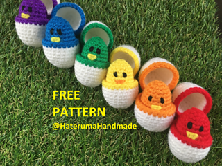 Color Match Eggs pattern by Hateruma Handmade #eastercrochetpatterns