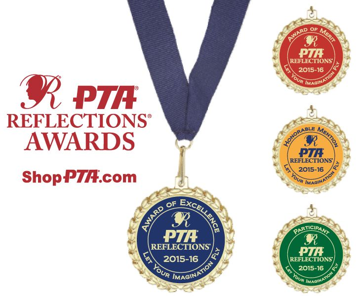 2015 16 pta reflections medallion available in all award levels pta reflections awards certificates trophies medallions stickers ribbons for your pta or ptsa yadclub Gallery