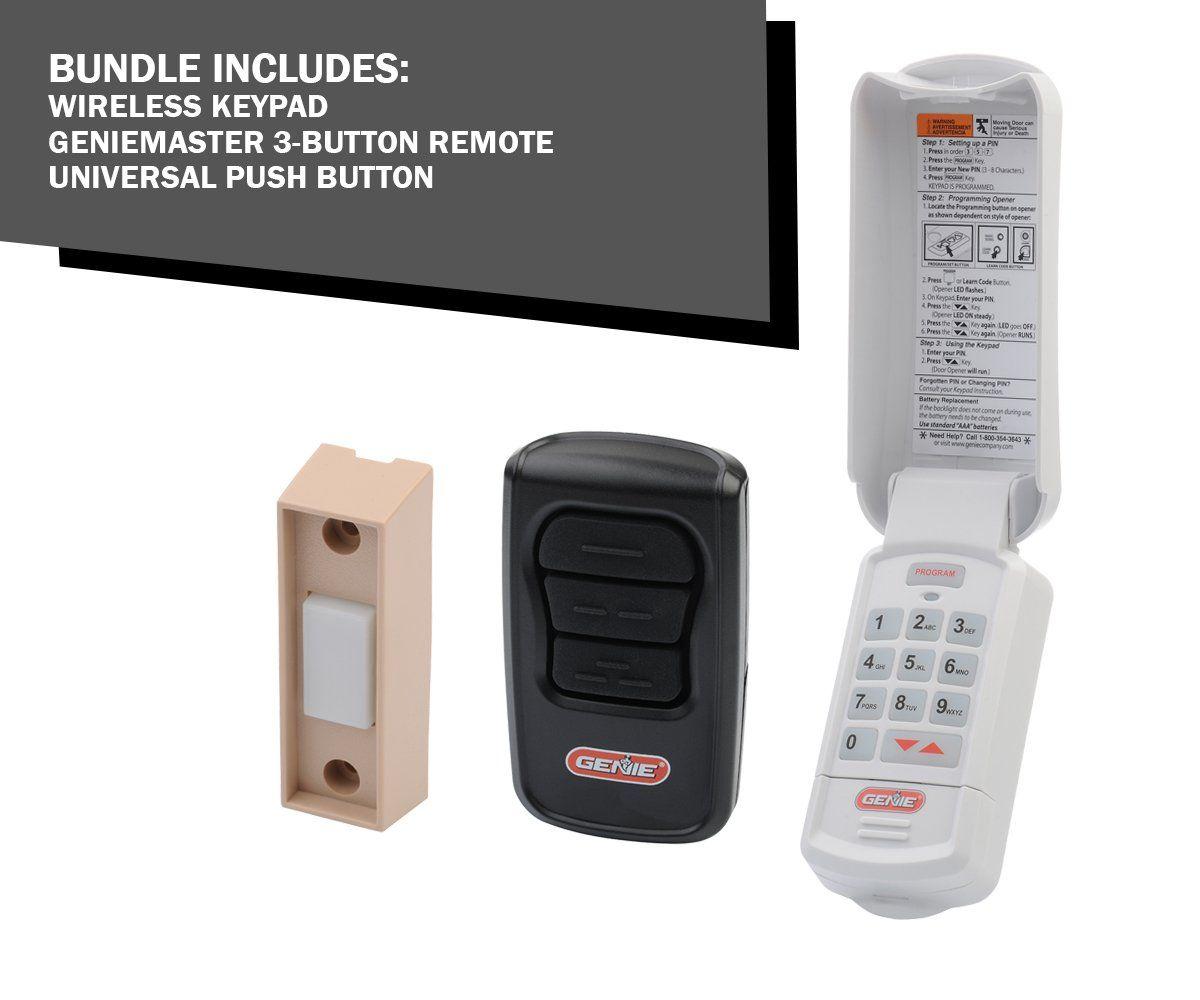 Gk R Keyless Entry Gm3t R Remote Universal Push Button Pack Garage Door Keypad Genie Garage Door Remote