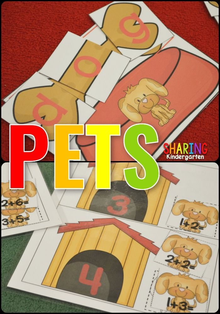 Fun Pet Themed Literacy and Math Activities for your Kindergarten and First Grade classrooms.