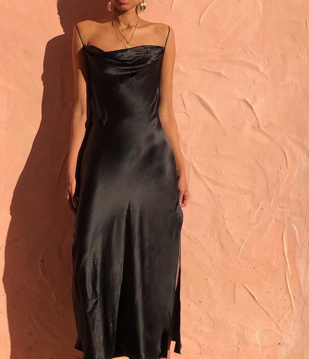 Beautiful 100 Silk Black Slip Dress With Open Back Same Style As Red Dress A Few Posts Back Size M L 125 Sold Silk Prom Dress Black Slip Dress Slip Dress [ 1253 x 1080 Pixel ]