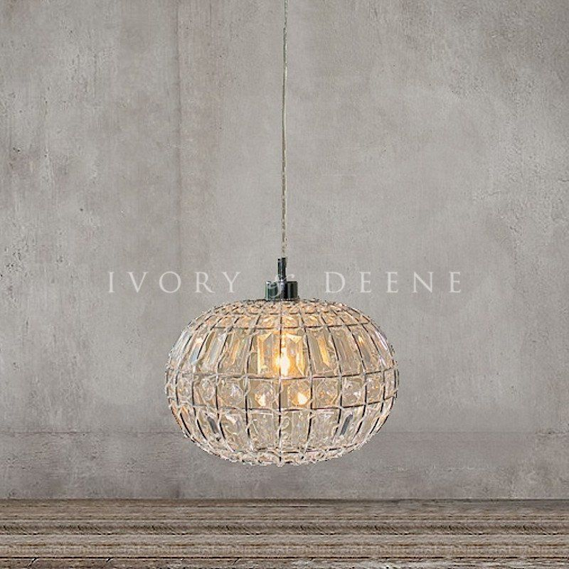 Pendant Light Round Ball - Lily | Ball lights, Crystal ball and ...