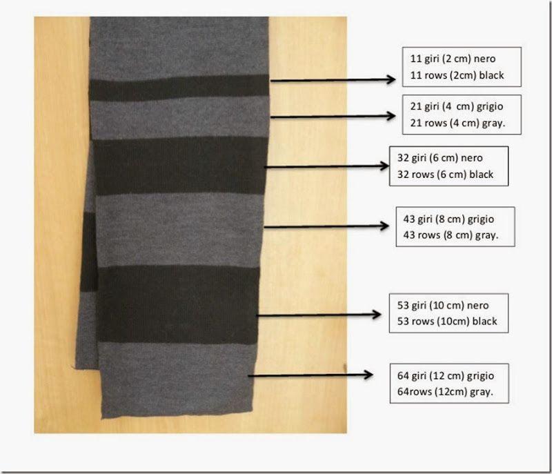 Simple Knitting Machine Scarf. Pattern Free