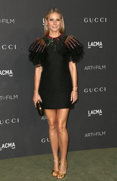 Gwyneth Paltrow Cocktail Dress | Gwyneth paltrow, Gucci and Ruffle ...