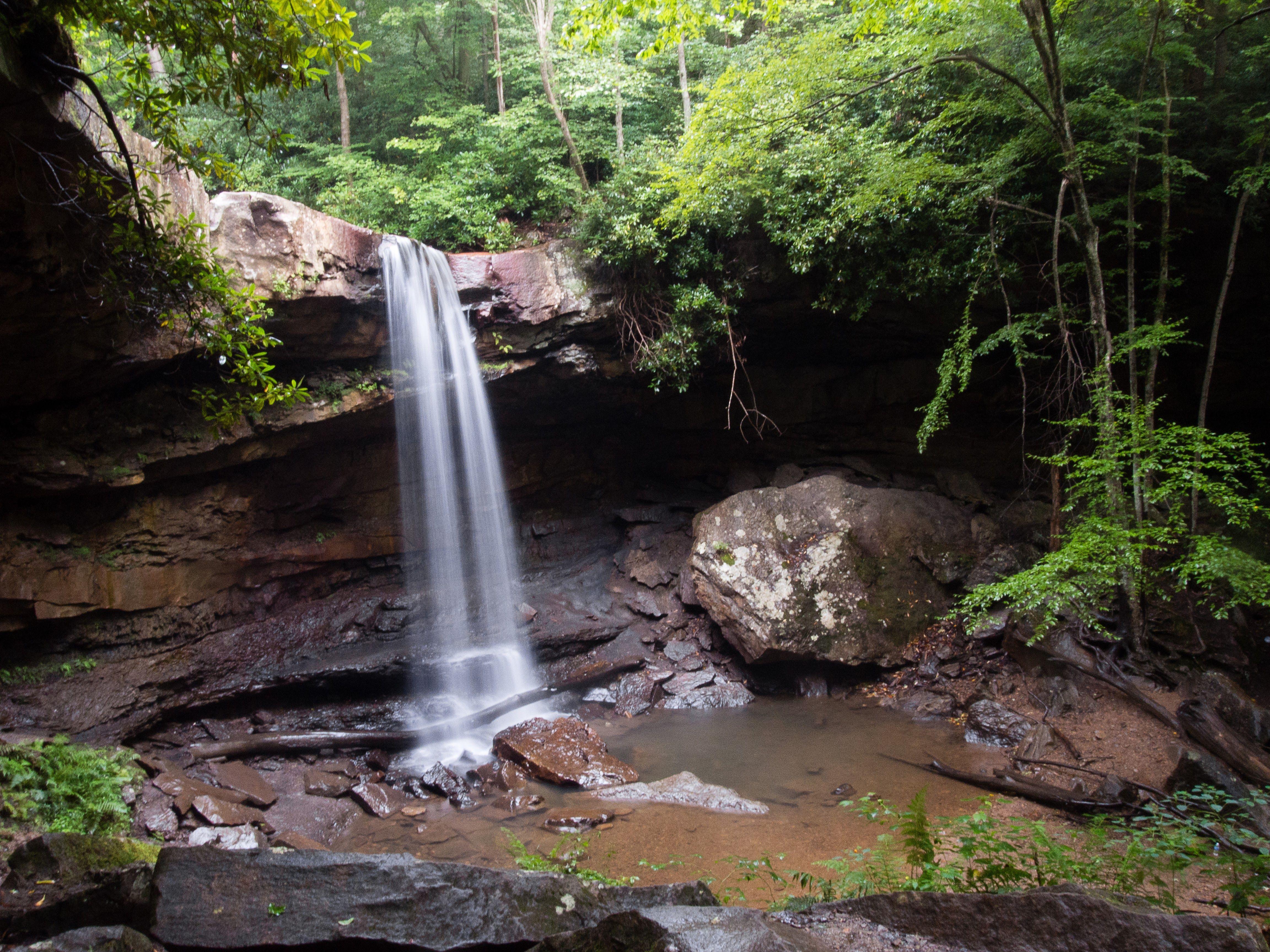 cucumber falls at ohiopyle state park #waterfall #nature