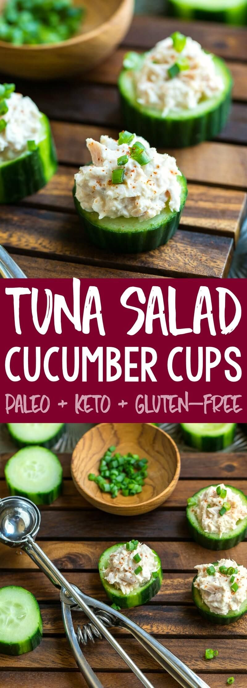 Tuna Salad Cucumber Cups Recipe - Peas and Crayons