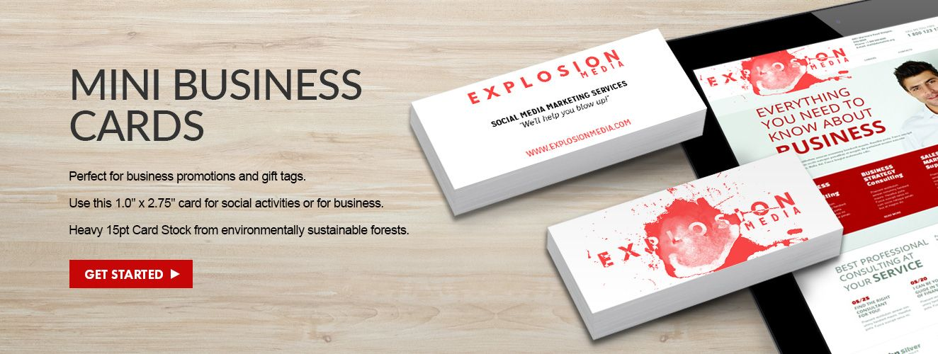 Mini Business Cards | Small and Skinny by Overnight Prints ...