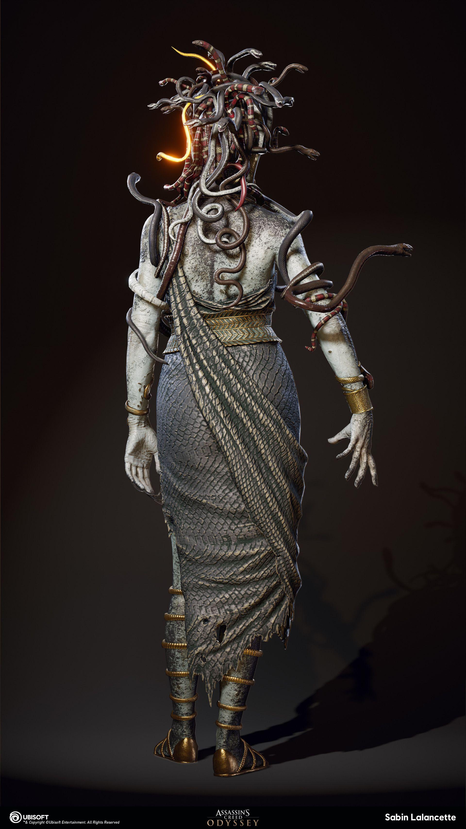 Artstation Mythical Creature Medusa Sabin Lalancette