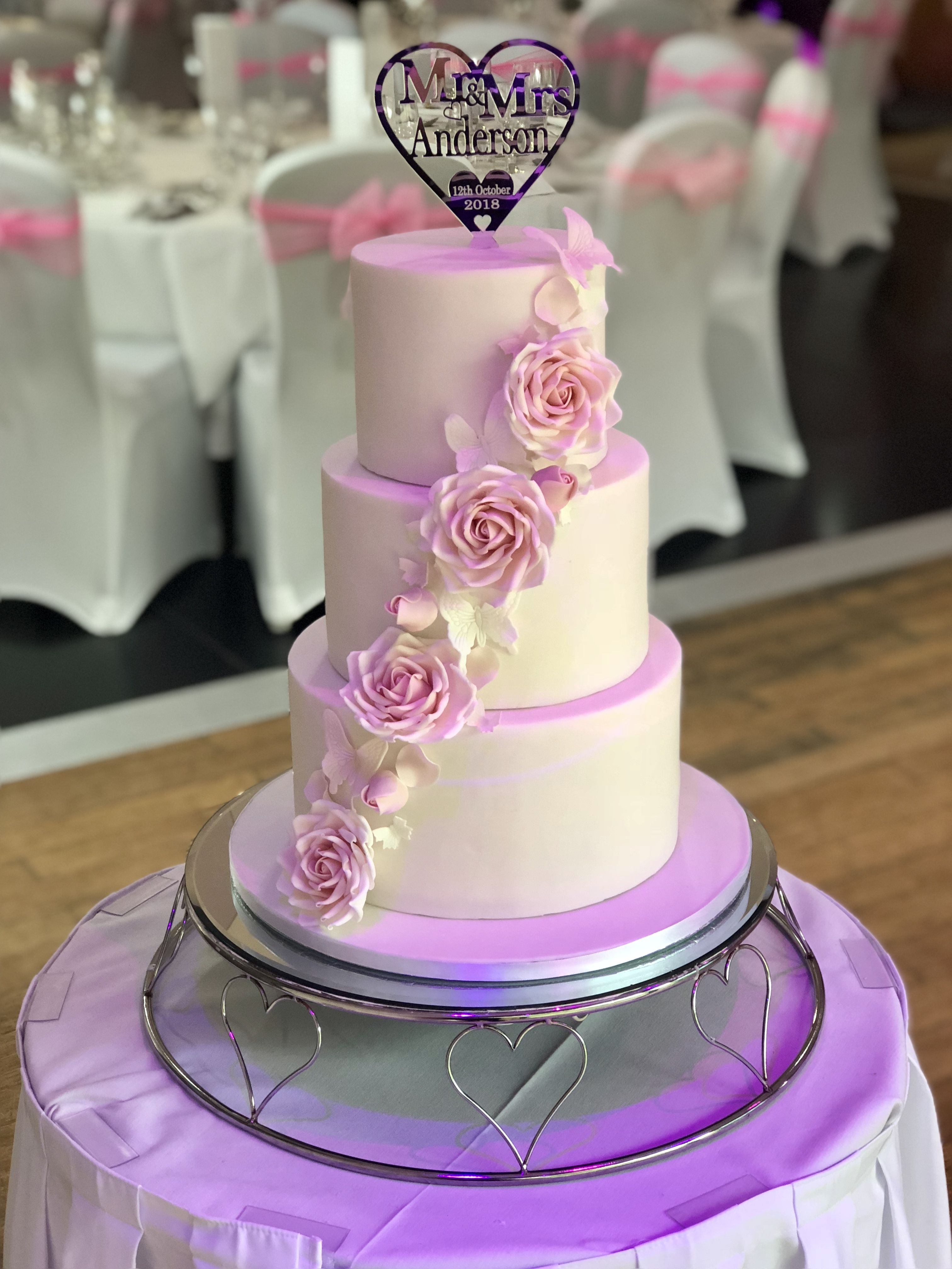 Wedding decorations purple october 2018 Pin by Caledonian Designer Cakes on Wedding cakes  Pinterest