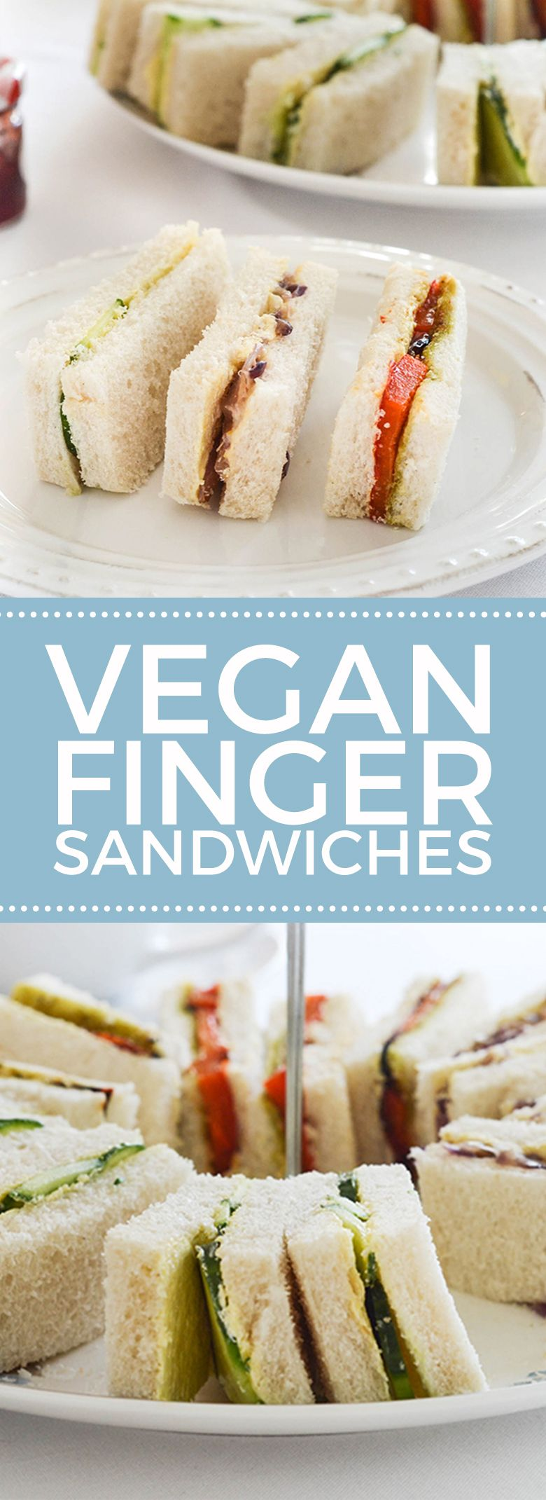 Vegan Tea Sandwiches | Vegan teas, Finger sandwiches and Finger