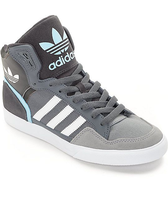 adidas Extaball Onix, White & Blue Womens Shoes | Adidas
