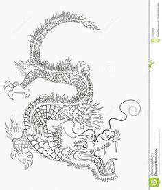 chinesische drachen zum ausmalen - malvorlagen