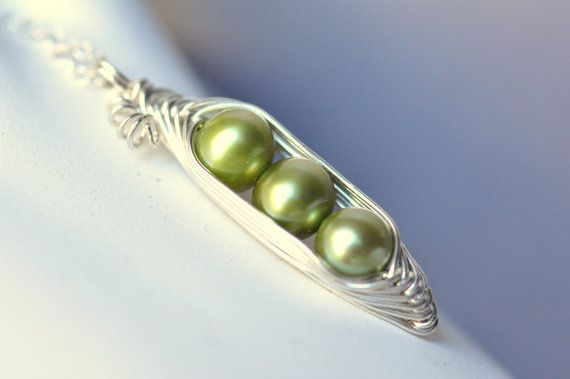 Sweet Three PEAs in a POD necklace  by Mu-Yin Jewelry - also available in different numbers of peas :)