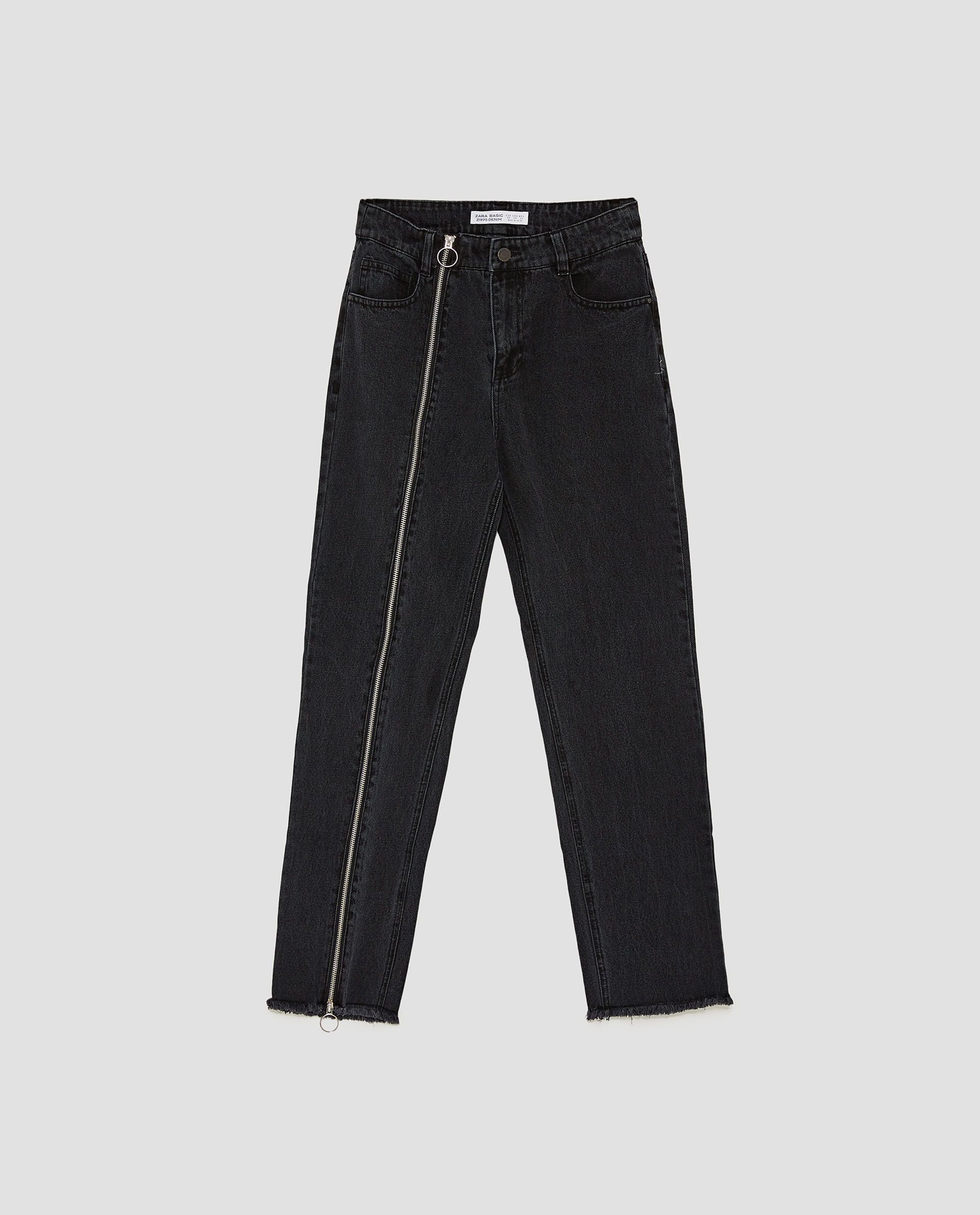 df608de5 Image 8 of HIGH WAIST JEANS WITH ZIP DETAIL from Zara | style in ...