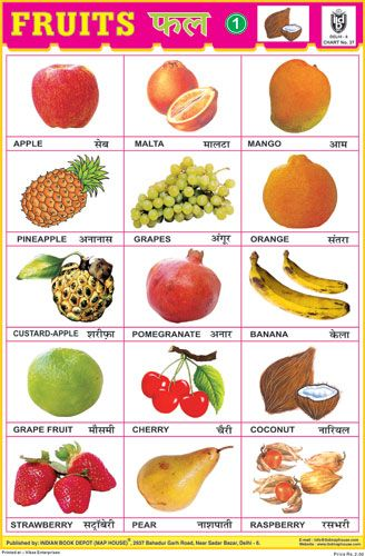 Fruits Chart No 1 Vegetable Chart Fruits Name With Picture