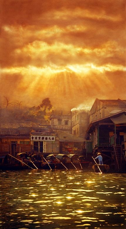 Old Hong Kong, by the famous Ho Fan / 何藩,