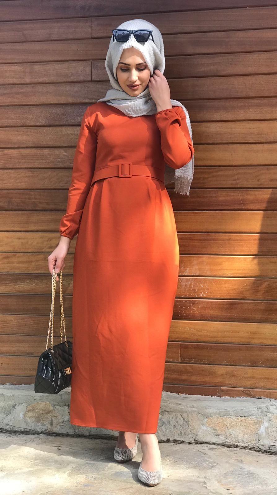 Modaonur Sik Tesettur Kalem Elbise Modelleri Moda Tesettur Giyim Elbise Modelleri Elbise Kalem Elbise