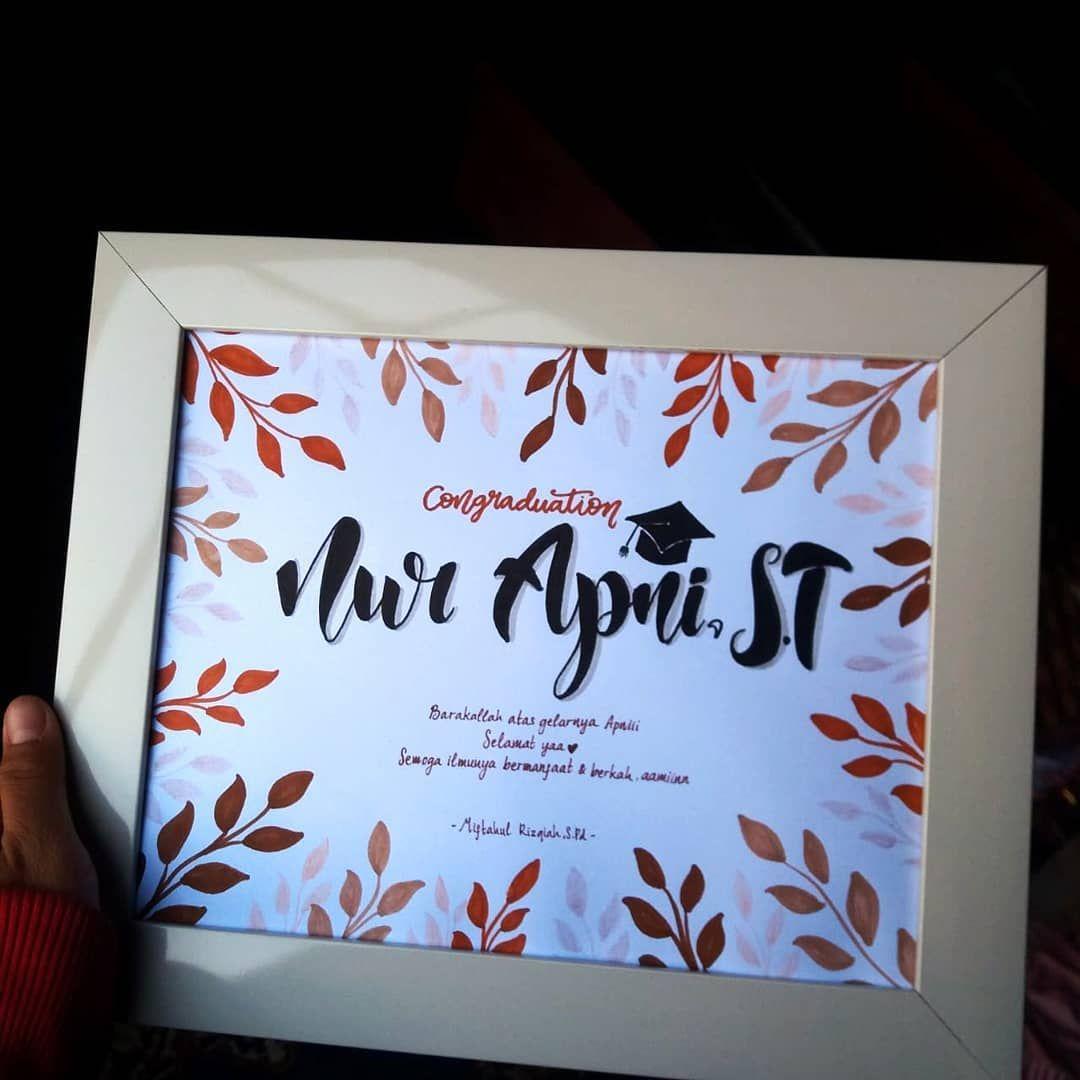 Hand Lettering Edisi Wisuda 100 Original Handmade Buat Kamu