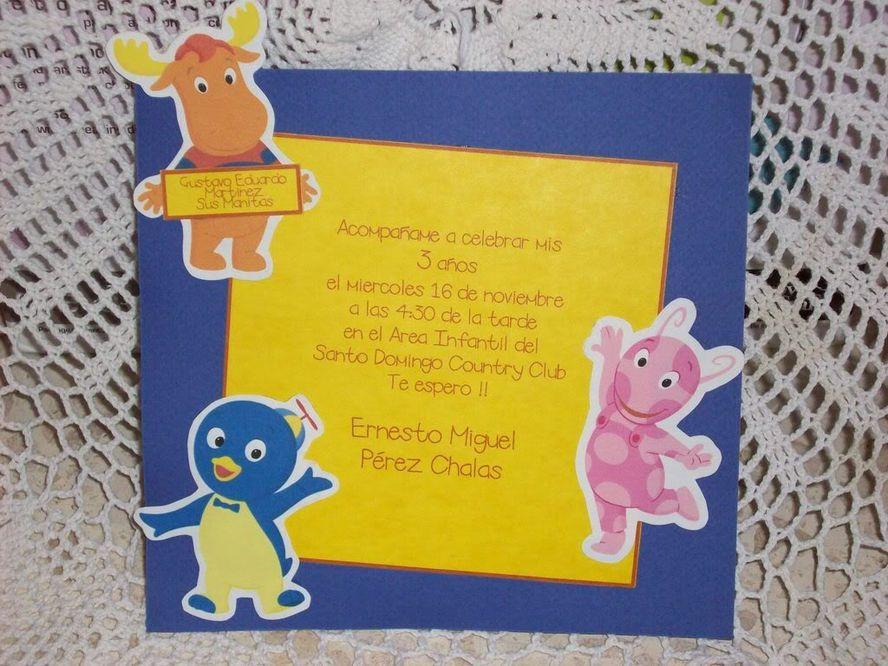 Tarjetas De Invitacion A Cumpleaños Backyardigans Para Bajar