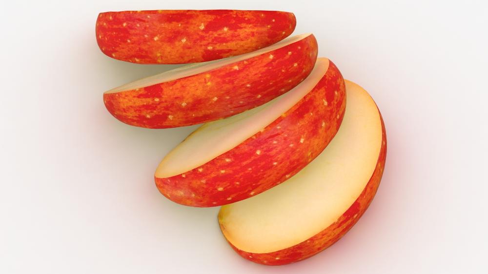 Realistic Sliced Apples 3d Model Turbosquid 1492502 Apple Slices Sliced 3d Model