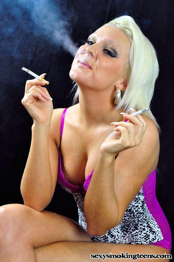 Girl Smoking Multiple