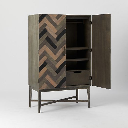 Parquetry Armoire | West Elm $1029 | Cool furniture ...