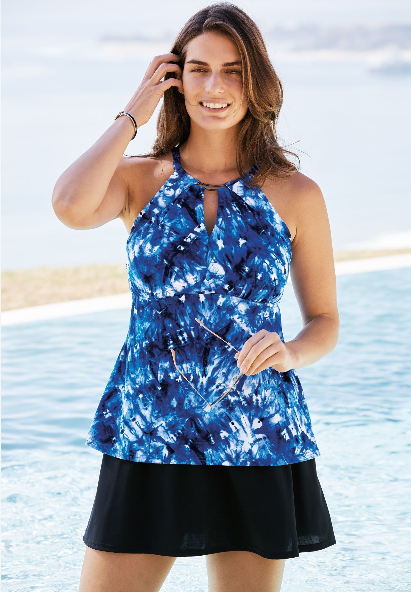 96852162c9 Keyhole Tankini Swim Top - Women's Plus Size Clothing | Products in ...
