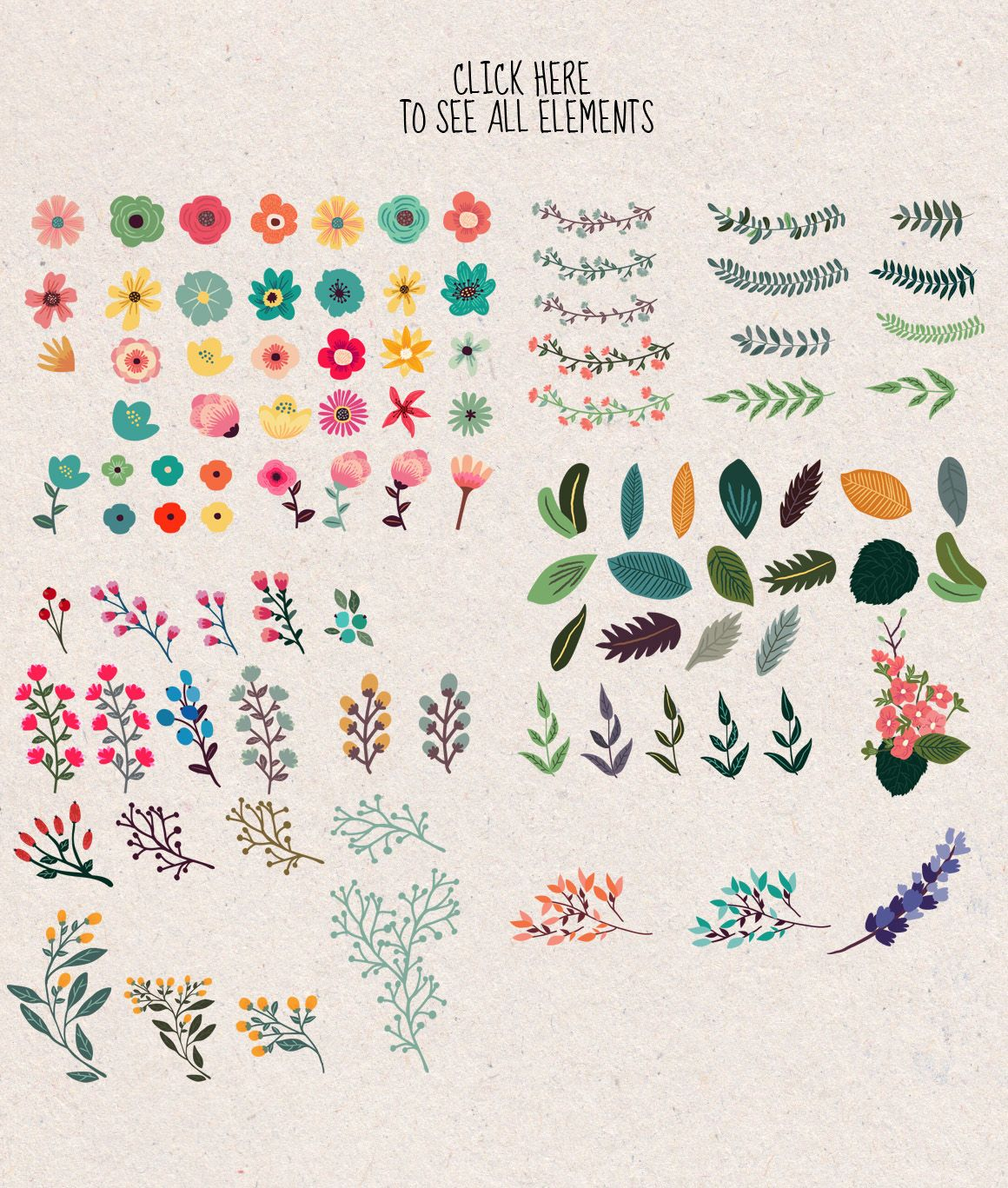 Photo of The large bunch of flowers from CLIPART GARDEN on Creative Market