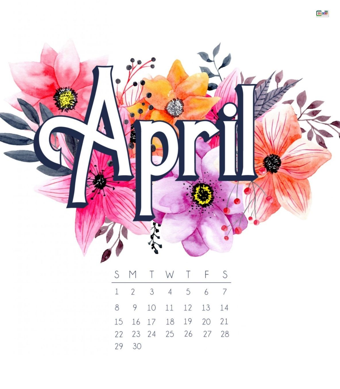 April 2018 Iphone Calendar Wallpaper Calendar Wallpaper