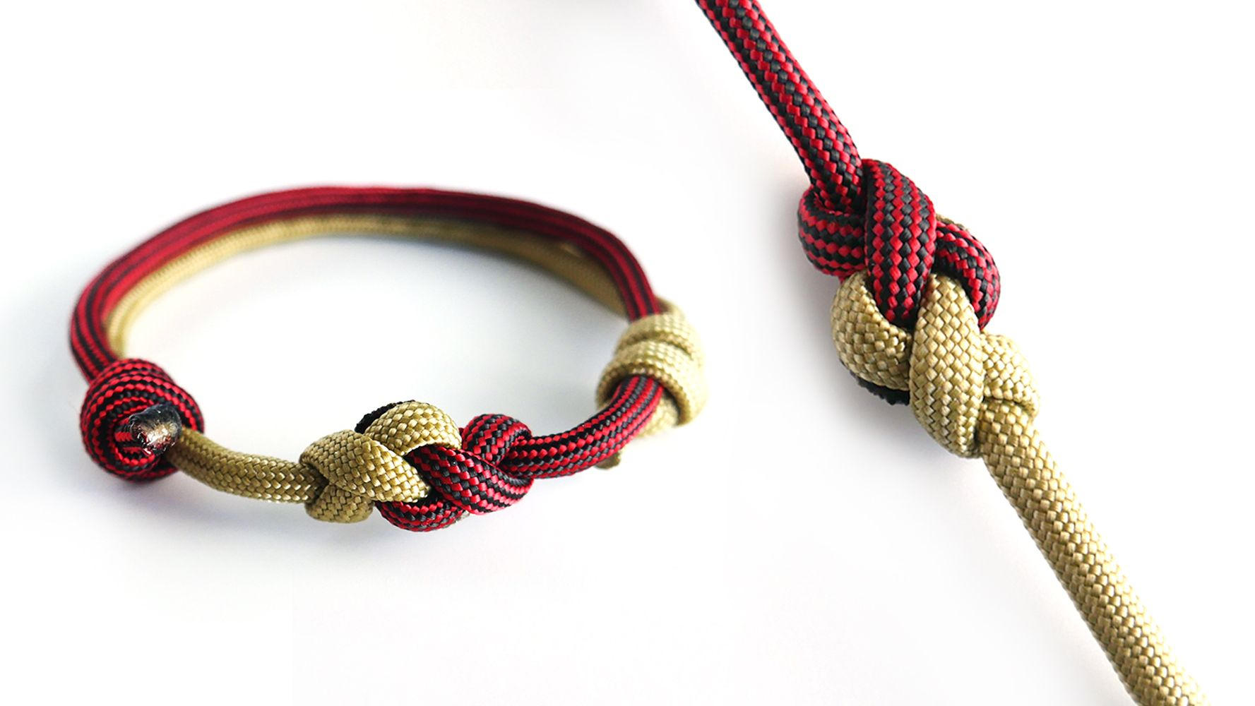 How To Make A Two Color Eternity Knot Paracord Bracelet
