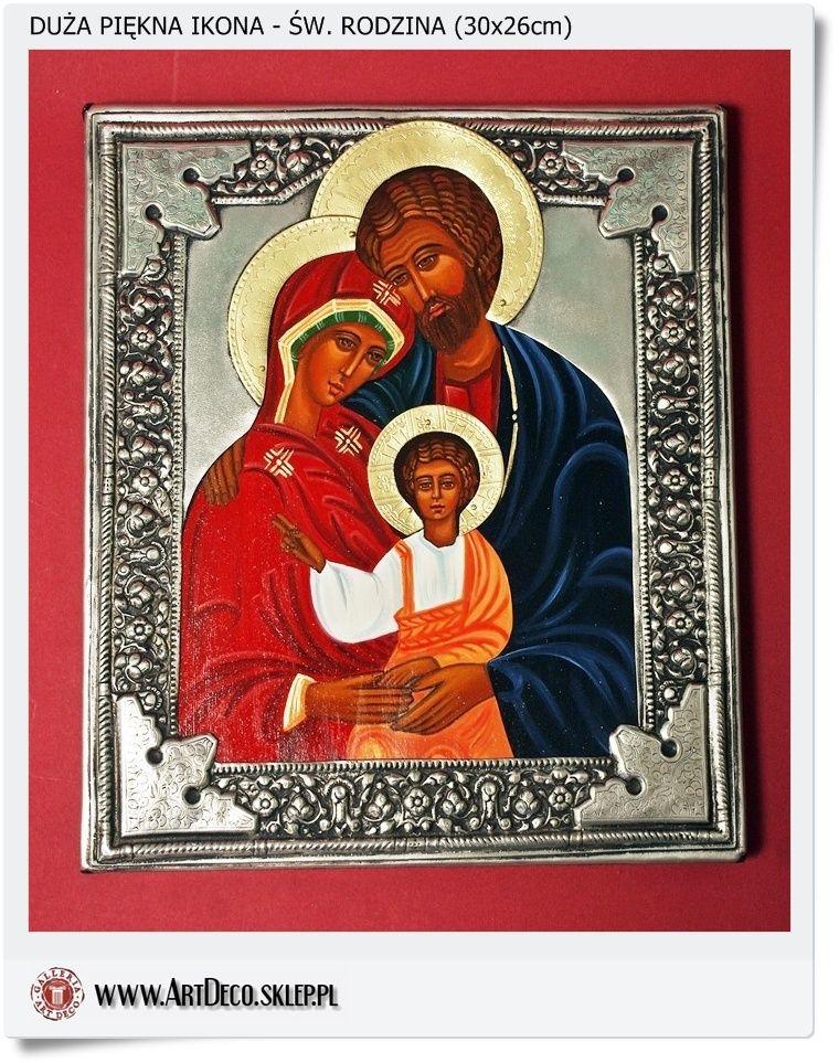 Ikona Cała Ręcznie Malowana święta Rodzina W Koszulce Polska Ikona