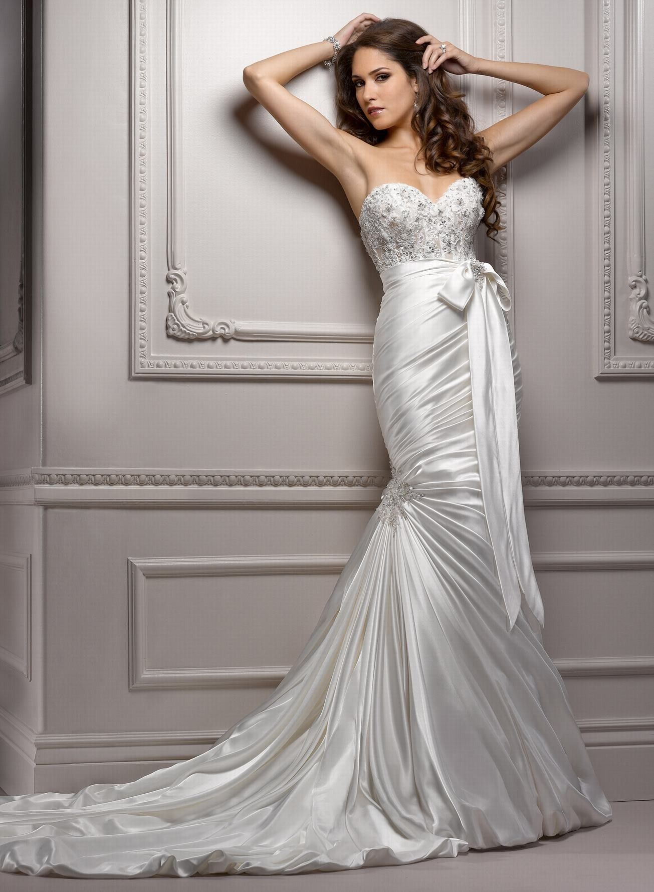 Satin backless wedding dress  Why pay more  wedding dresses  Pinterest  Bridal warehouse