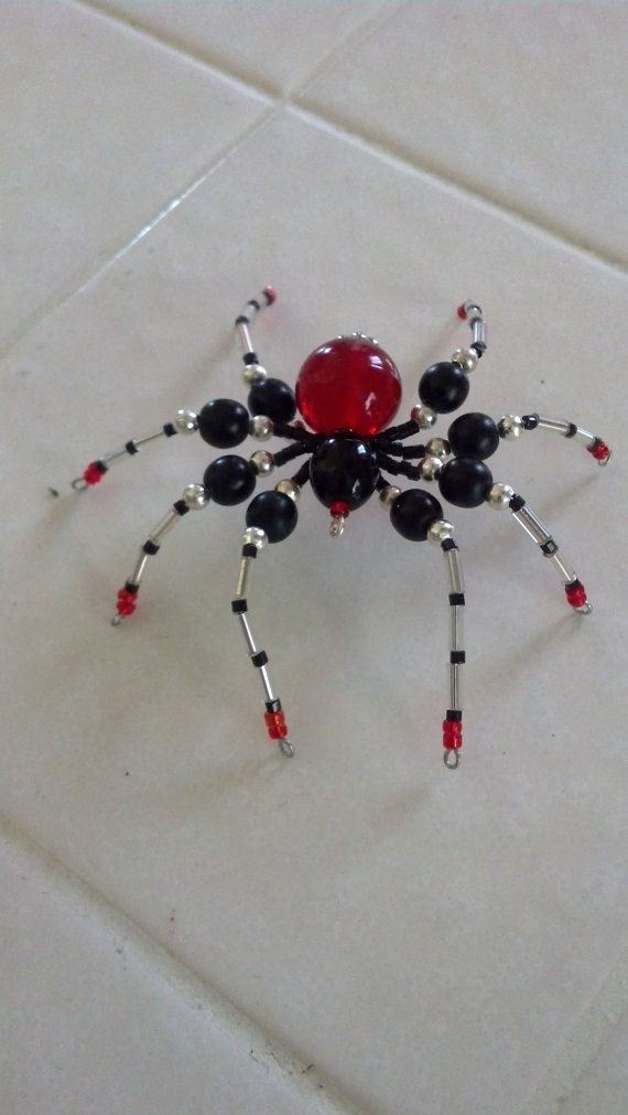 medium size beaded spider by Natjerm on Etsy, $10.00 | jewelry ...