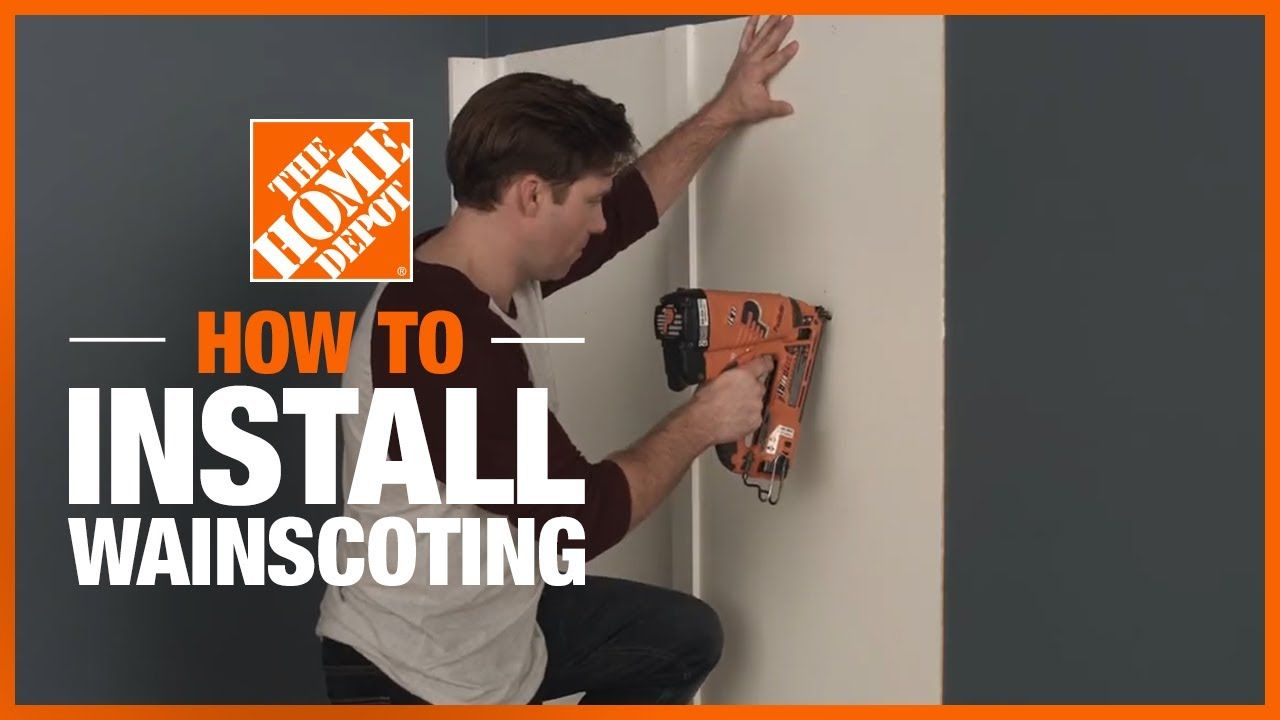 How to install easy diy wainscoting the home depot in