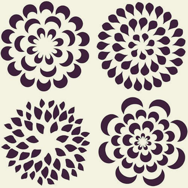 40 Printable Stencil Patterns For Many Uses Mixed Media and