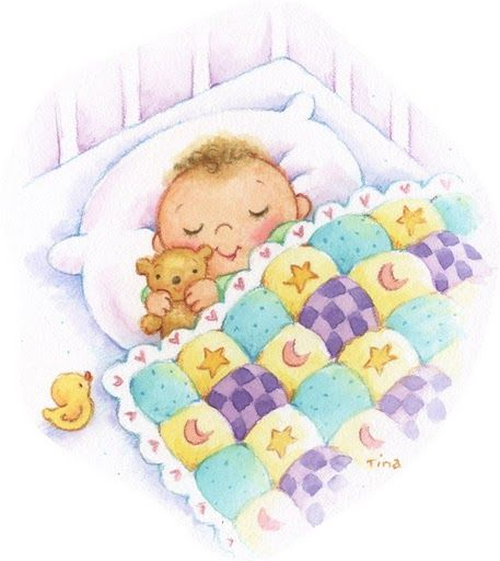 Картинки спящие дети нарисованные