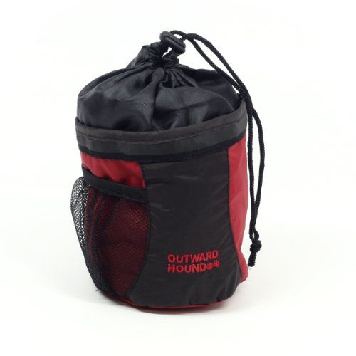 $8.89-$8.99 This convenient bag is ideal for holding a ball, treats and other items used in play and training.  Bag features secure drawstring closure and durable clip, hook and  D-ring for keys and more.
