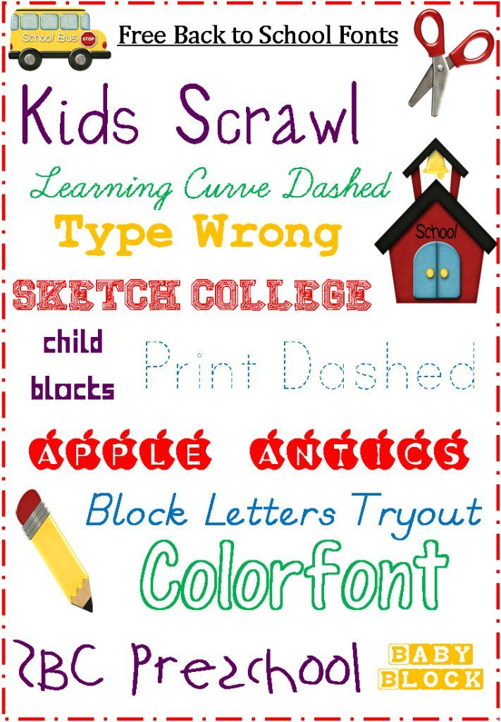 school fonts  free for back to school  blogging basics