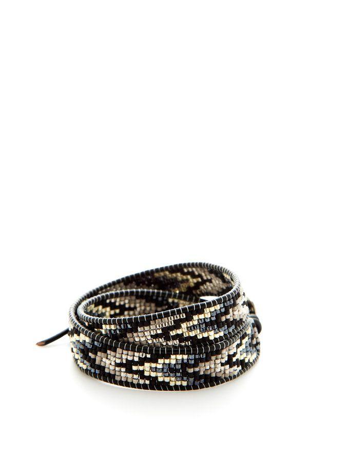 Tribal Bead Wrap Bracelet by Chan Luu at Gilt