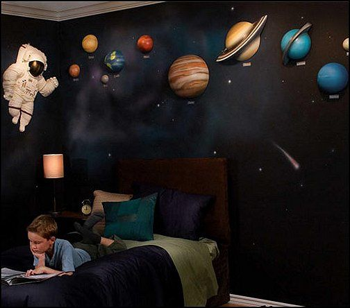 3d solar system wall art decor outer space bedroom boys for Outer space decor
