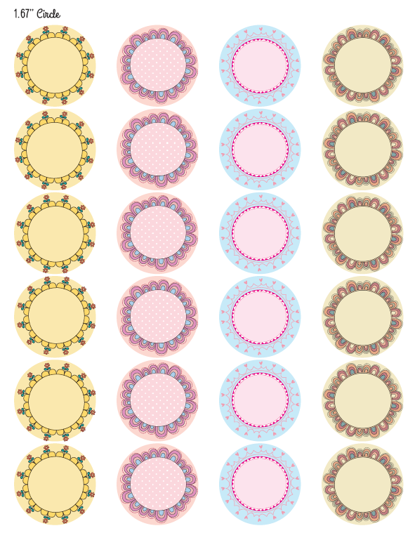 photograph about Printable Round Labels titled No cost printable circle tags, spherical-labels Assignments towards Test