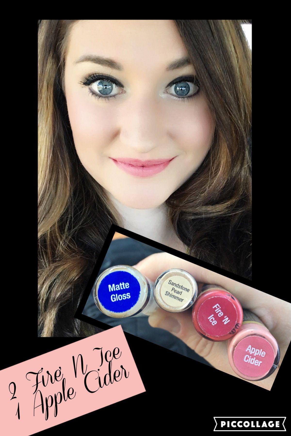 Lipsense Makeup: LipSense Fire N Ice Apple Cider Matte Gloss ShadowSense