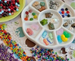 love the idea of a beading party for little girls its a party