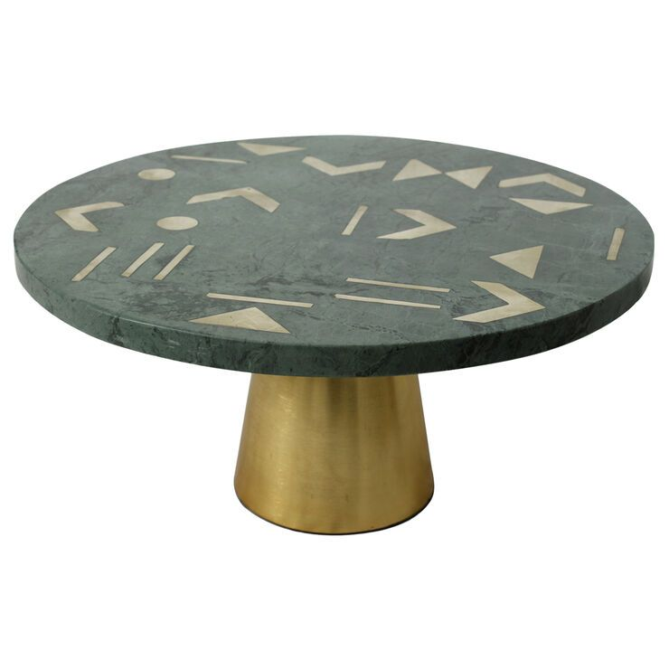 Green Marble Cake Stand With Gold Metal Inlay And Base Large 12 In 2020 Marble Cake Marble Cake Stand Green Marble