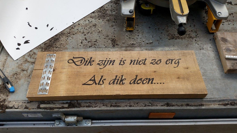 Leuke teksten ook op steigerhout