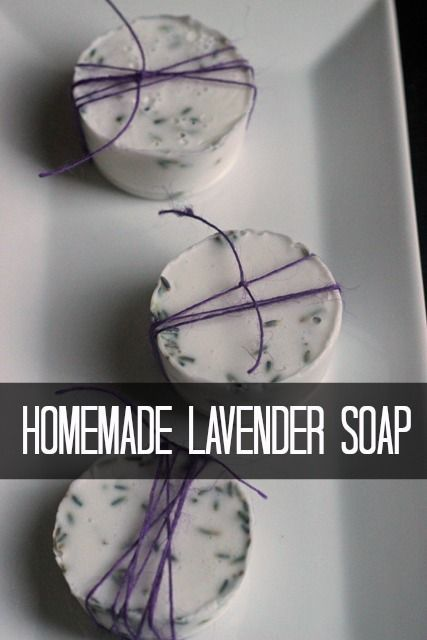 Homemade Lavender Soap #homemadeskincare